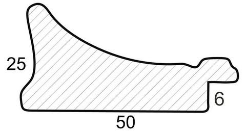 Багетная рама 1257-BL Agata (бежевый) (для работ размером 30*40 см)