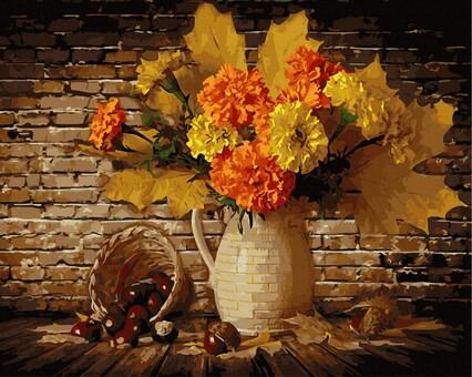 """DAB-34066 Картина по номерам """"Осенний букет"""" (40х50 см) на холсте"""