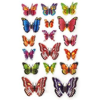 801-DB Разноцветные бабочки