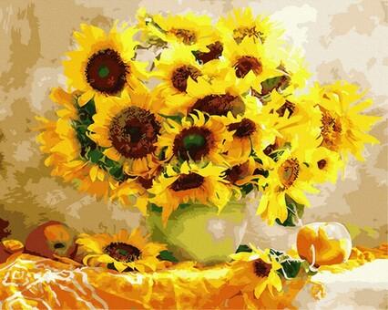 "DAB-22988 Картина по номерам ""Солнечный букет"" (40х50 см) на холсте"