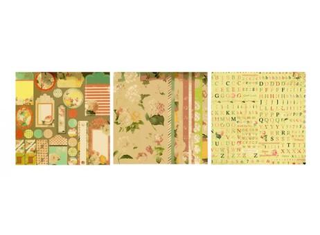 """027-SB Набор бумаги """"Яркие цветы"""""""