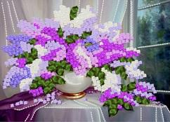 """НЛ3-013 Набор для вышивания лентами """"Сирень"""""""